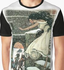 THE PRINCESS RAN WITH HER FEET ALL BARE OUT INTO THE OPEN from The Russian Story Book  Graphic T-Shirt