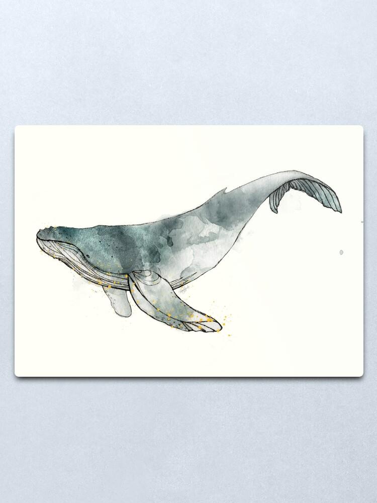 Alternate view of Humpback Whale Metal Print