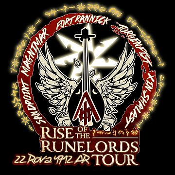 Rise of the Runelords Tour Shirt by Gowombat