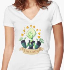 Peridot Women's Fitted V-Neck T-Shirt