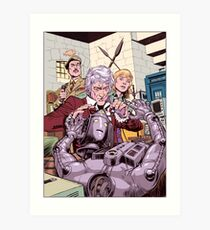 Third Doctor and the Cyberman Art Print