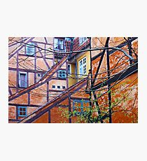 Tutor architecture in Pilestræde Copenhagen Photographic Print