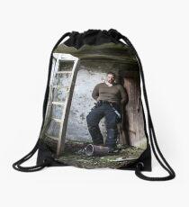 Should I Climb or Decay Drawstring Bag