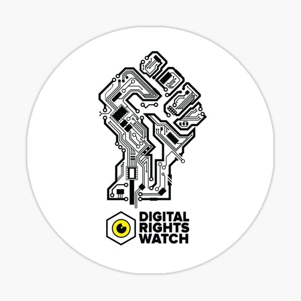 Fight for your digital rights Sticker