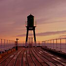 Whitby Guiding Tower at Sunrise by JMChown