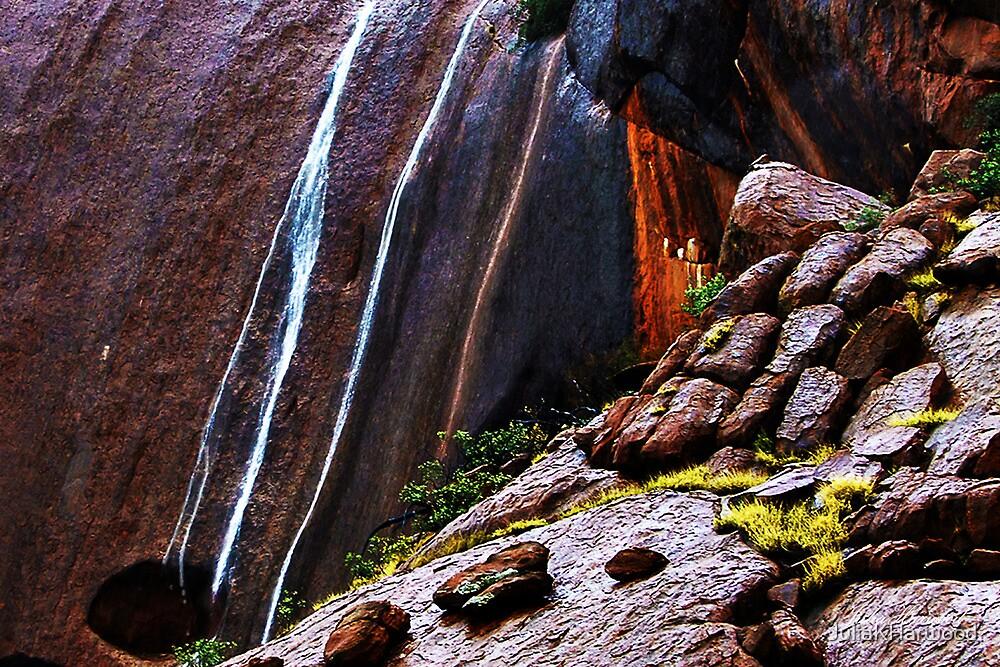 Waterfalls at Uluru by JuliaKHarwood