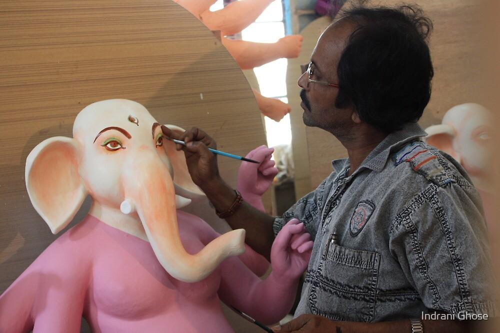 Making of Ganesha - 2 by Indrani Ghose