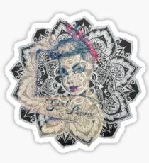 GIrl Power Mandala Design Sticker