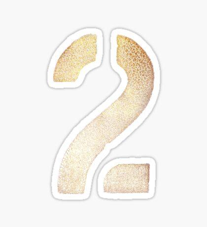 2 Tee - Gold Sticker