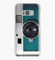 Blue camera with germany lens Samsung Galaxy Case/Skin