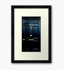 Haunted Blue Door with 221b number Framed Print