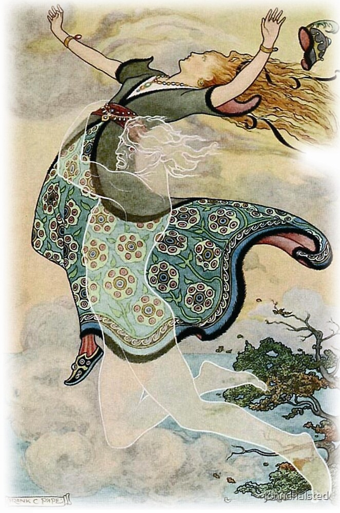 THE WHIRLWIND CARRIED AWAY GOLDEN TRESS from the story THE KINGDOMS OF COPPER, SILVER, AND GOLD in The Russian Story Book  by johndhalsted