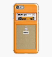 Orange color amp amplifier iPhone Case/Skin