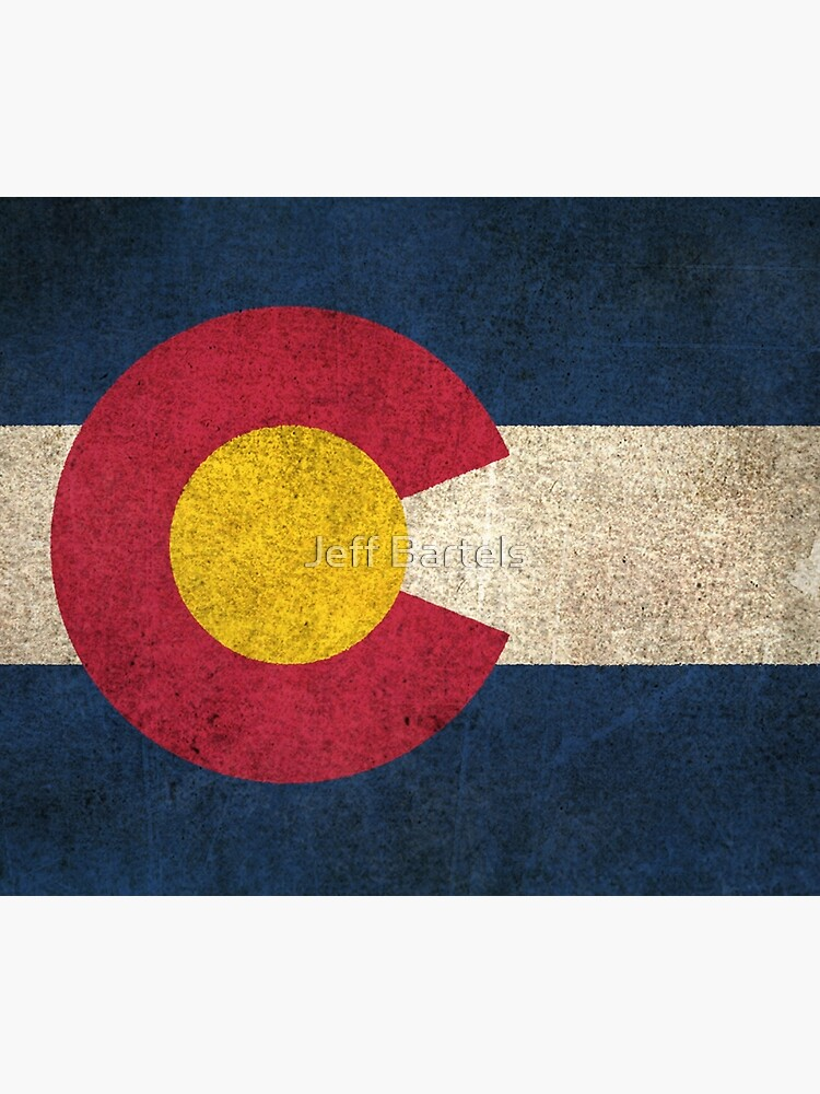 Old and Worn Distressed Vintage Flag of Colorado by JeffBartels