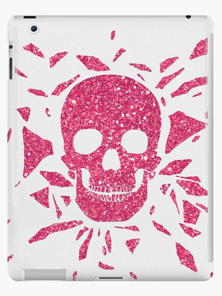 Girly Pink Glitter Abstract Skull Cool Photo Print by RailtonRoad