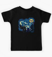 Vampire Starry night digital art Kids Tee