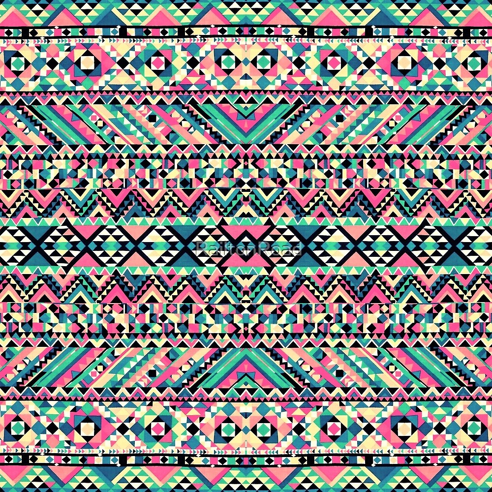 Quot Pink Turquoise Girly Aztec Andes Tribal Pattern Quot By