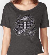 Steampunk terminator Cyborg robot body torn tee tshirt Women's Relaxed Fit T-Shirt