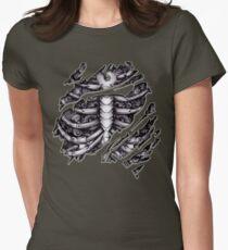 Steampunk terminator Cyborg robot body torn tee tshirt Womens Fitted T-Shirt