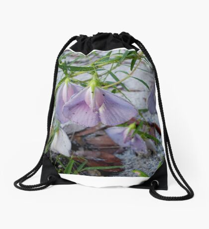 Butterfly Pea - a species of Clitoria Drawstring Bag