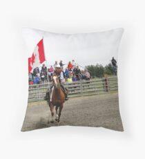 Galloping Flag Throw Pillow