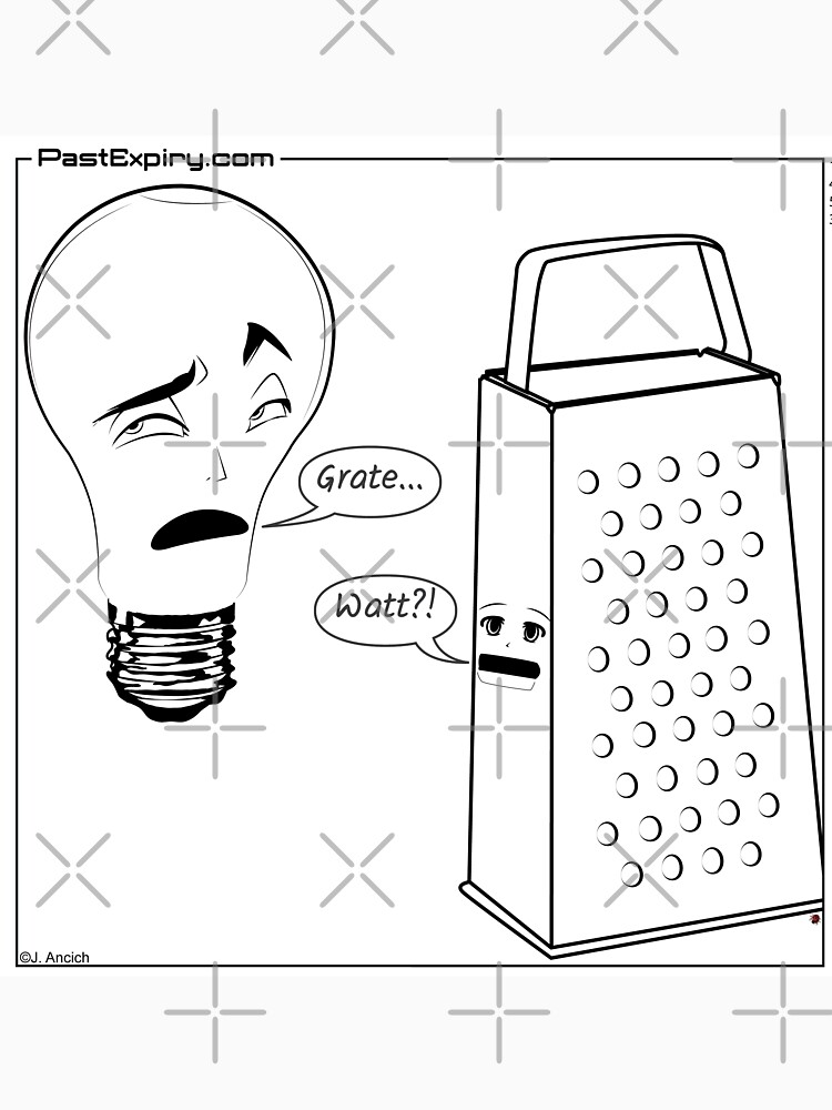 Cartoon: Lightbulb and Cheese Grater by cartoon