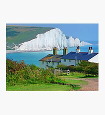 Spot The Seagull - The Seven Sisters Photographic Print