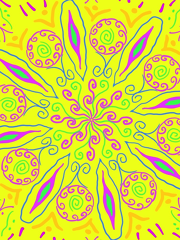 Yellow Hipster Flower by roseglasses