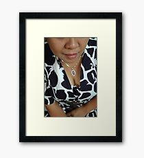 woman body Framed Print