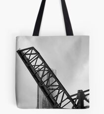 Chicago River Bridge Up Tote Bag