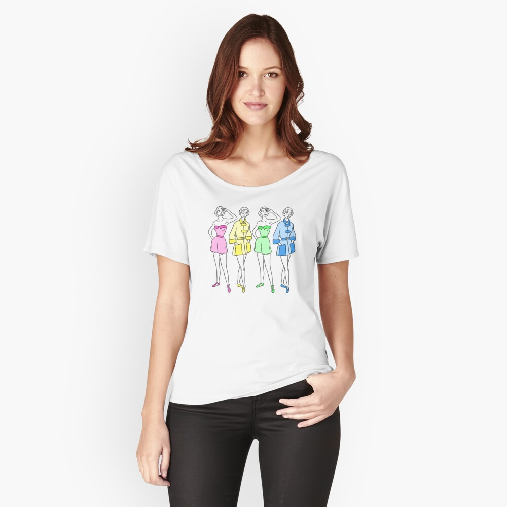 Vintage Rainbow Swimsuits Relaxed Fit T-Shirt