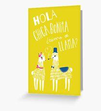 Hola Chica Bonita Poster Greeting Card