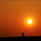 couple on the bank of odra river by astroleaf