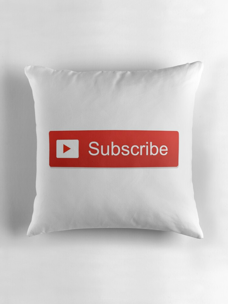 "Youtube Logo Makeup: ""Youtube Subscribe Logo"" Throw Pillows By Selinuenal13"