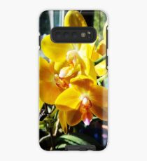 Yellow Orchids In The Sun Case/Skin for Samsung Galaxy