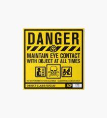 Lámina de exposición SCP 173 Señal de advertencia