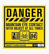 Lámina fotográfica SCP 173 Señal de advertencia