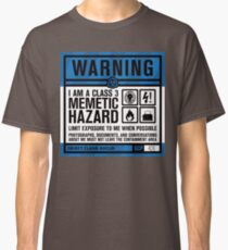 SCP 426 Warning Sign Classic T-Shirt