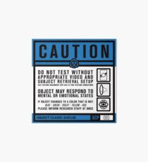 SCP 093 Warning Sign Art Board