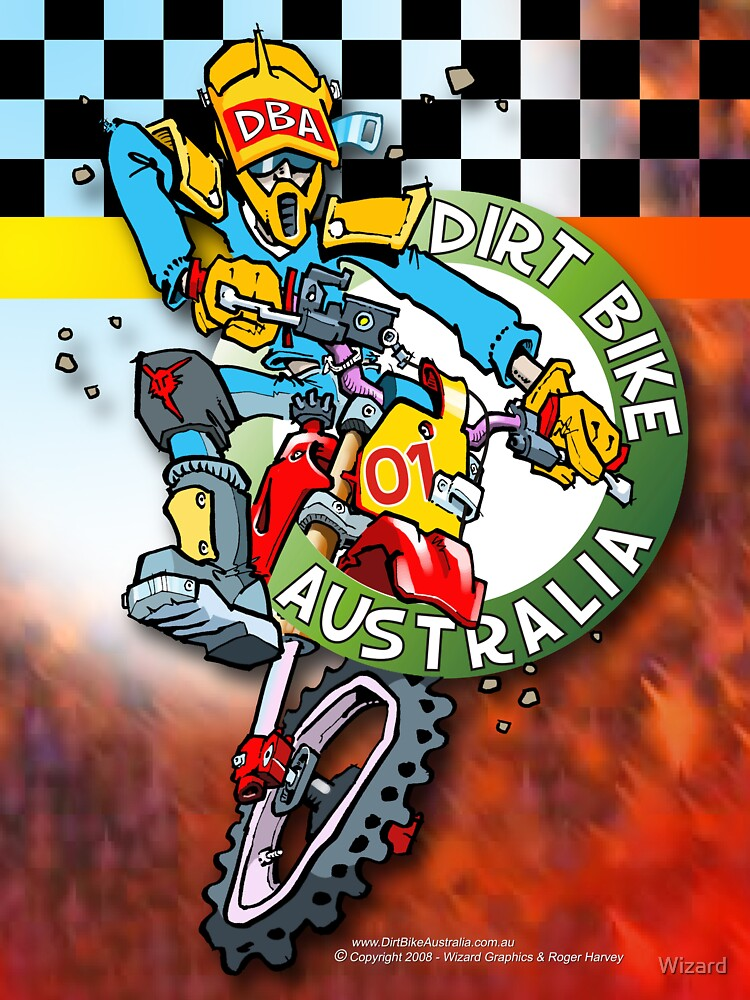 Dirt Bike Australia - Hot Stuff for Poster Art by Wizard