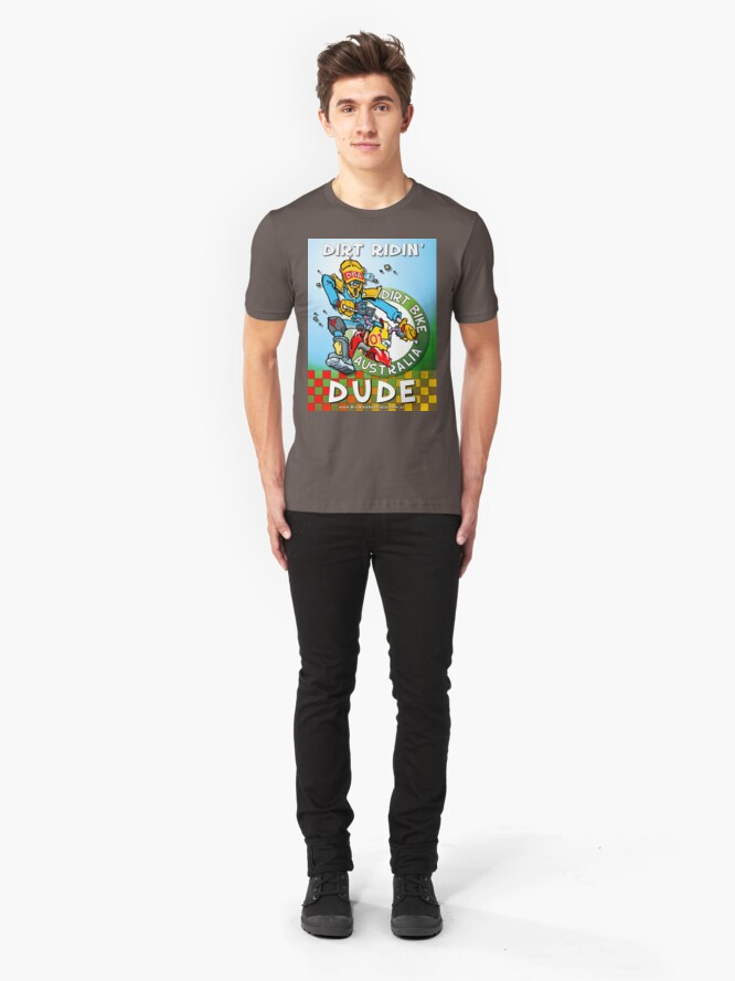 Alternate view of Dirt Ridin' Dude  T-Shirt Slim Fit T-Shirt