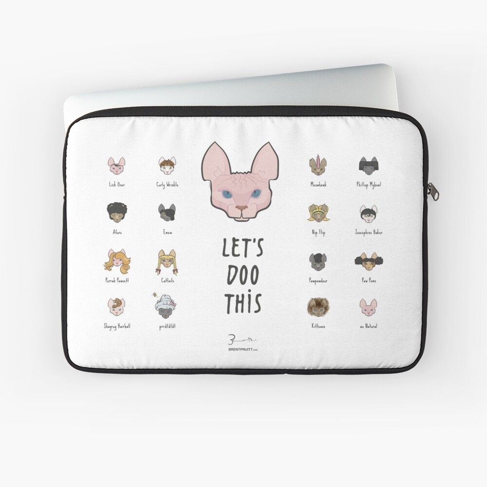 Let's Doo This [Trendy Hair Styles for Sphinx Cats] Laptop Sleeve