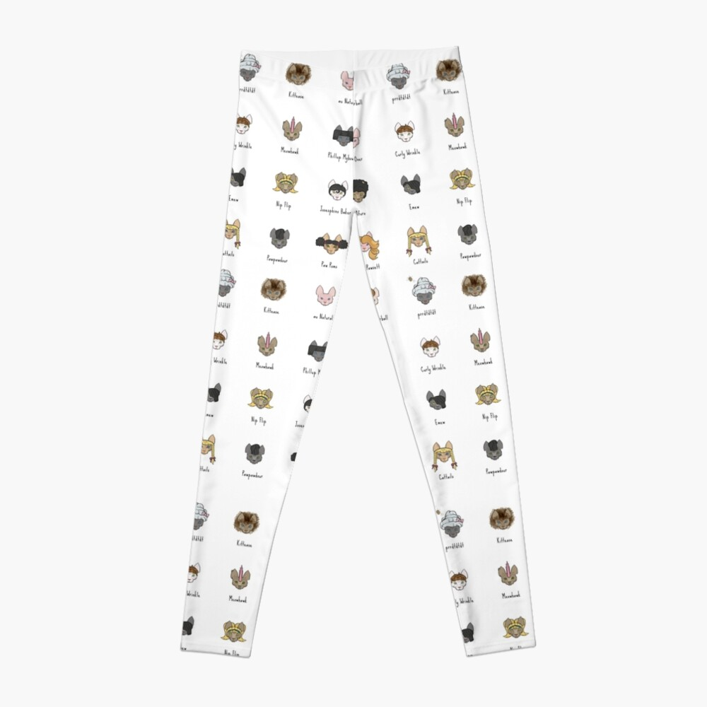 Let's Doo This [Trendy Hair Styles for Sphinx Cats] Leggings