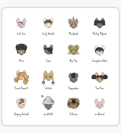 Let's Doo This [Trendy Hair Styles for Sphinx Cats] Sticker