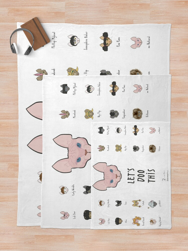 Alternate view of Let's Doo This [Trendy Hair Styles for Sphinx Cats] Throw Blanket