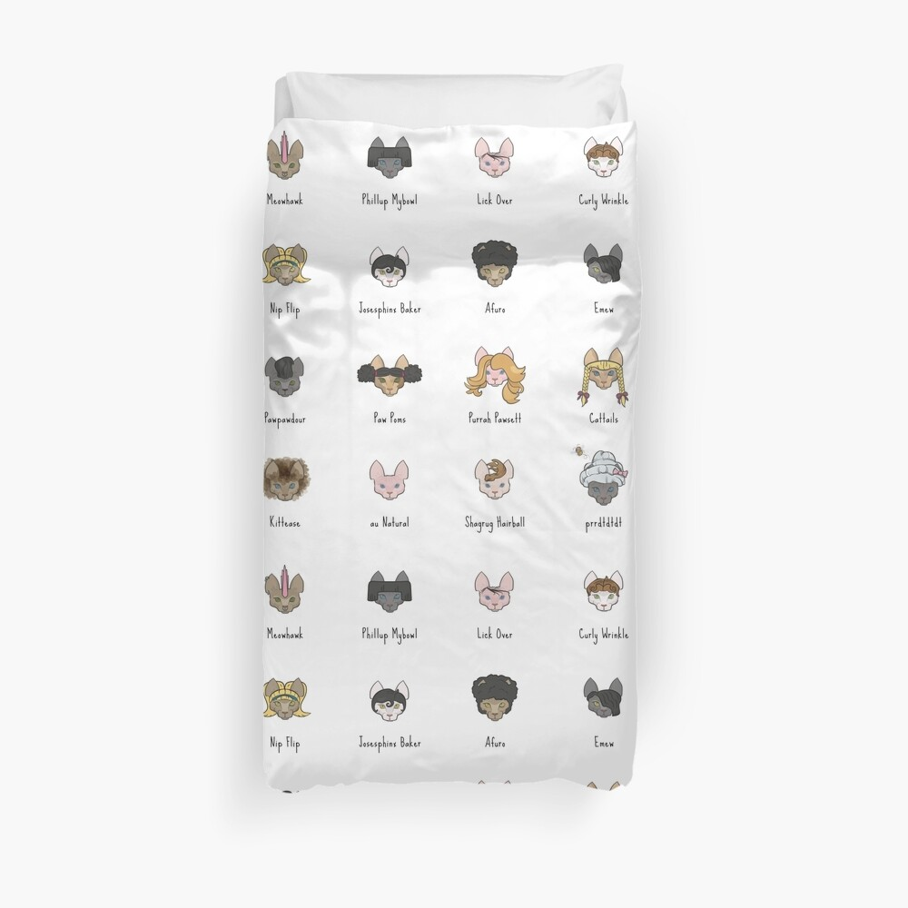 Let's Doo This [Trendy Hair Styles for Sphinx Cats] Duvet Cover