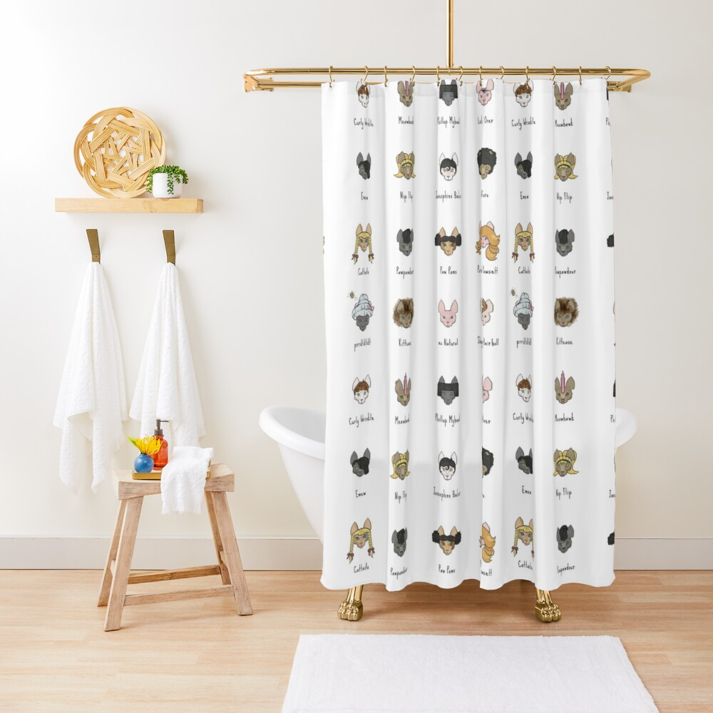 Let's Doo This [Trendy Hair Styles for Sphinx Cats] Shower Curtain