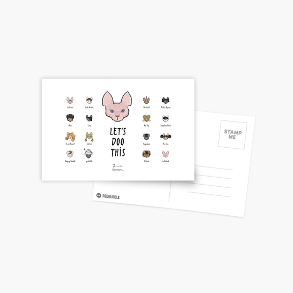 Let's Doo This [Trendy Hair Styles for Sphinx Cats] Postcard