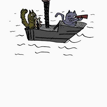 Squirrel on a boat by JuhoL