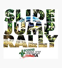 Slide Jump Rally - Colour/White Photographic Print